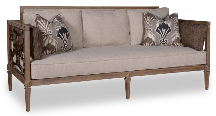 Marni Driftwood Wood Trim Sofa