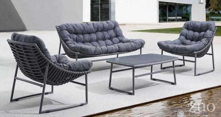 Mulligan Dark Brown Fabric Living Room Set