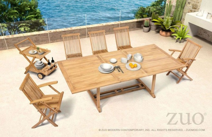 Regatta Natural Extendable Rectangular Dining Room Set