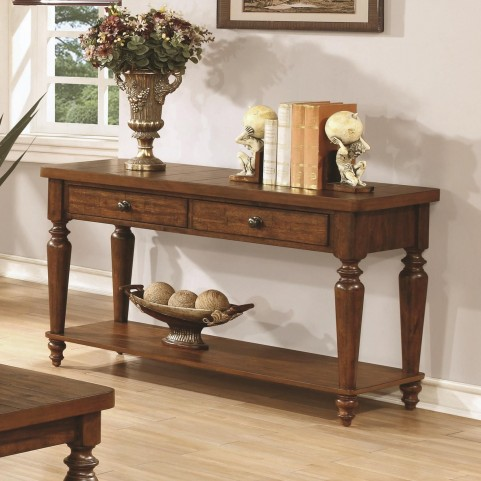 703579 Rustic Brown Sofa Table