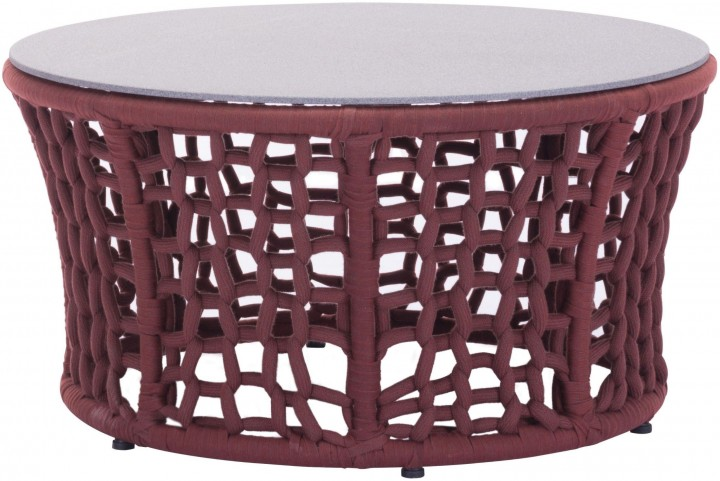 Faye Bay Beach Cranberry & Granite Coffee Table