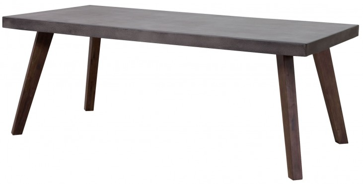 Son Cement & Natural Rectangular Dining Table