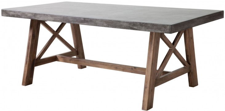 Ford Cement & Natural Rectangular Dining Table