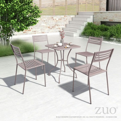 Oz Taupe Square Dining Room Set