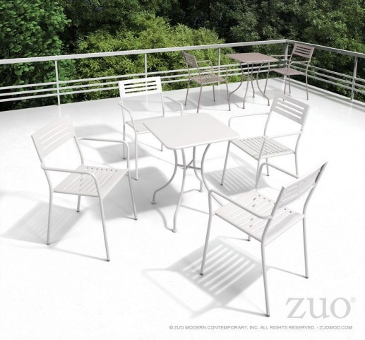 Oz White Square Dining Room Set