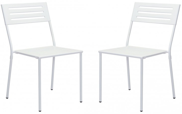 Wald White Dining Chair Set of 2