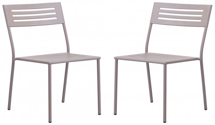 Wald Taupe Dining Chair Set of 2