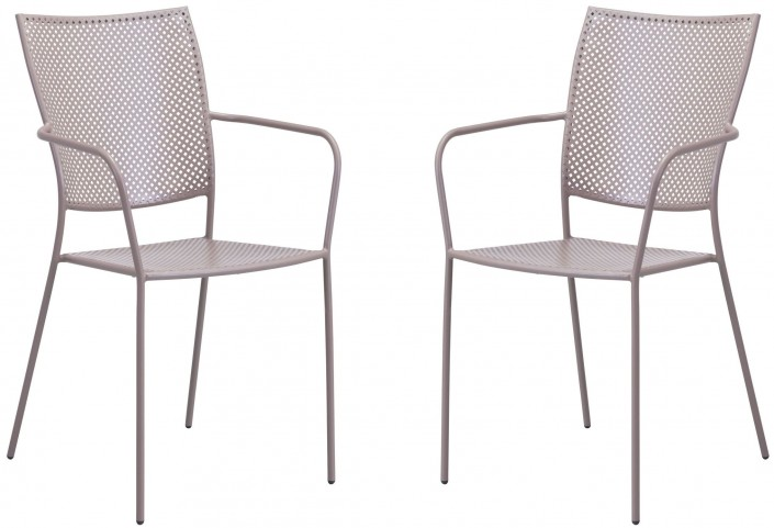Pom Taupe Dining Chair Set of 2
