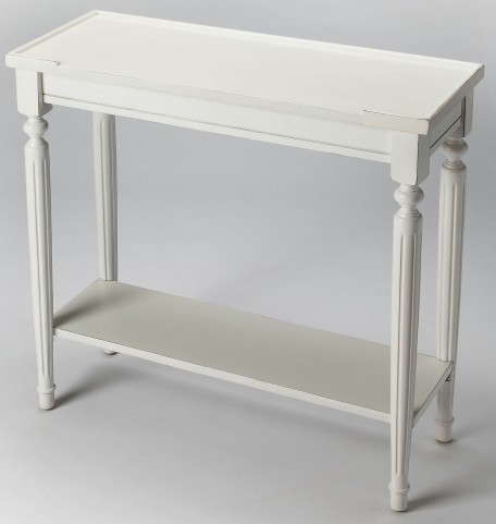 Aubrey Cottage White Console Table