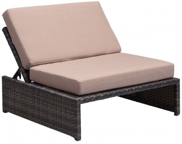 Delray Brown & Beige Reclining Single Seat