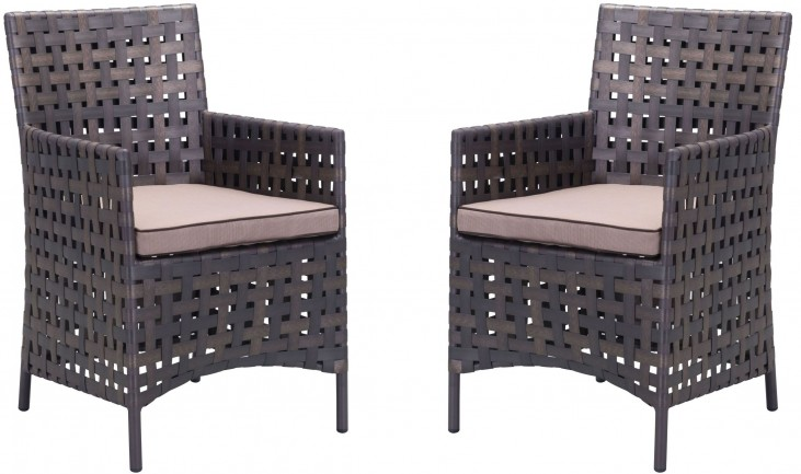 Pinery Brown & Beige Dining Chair Set of 2