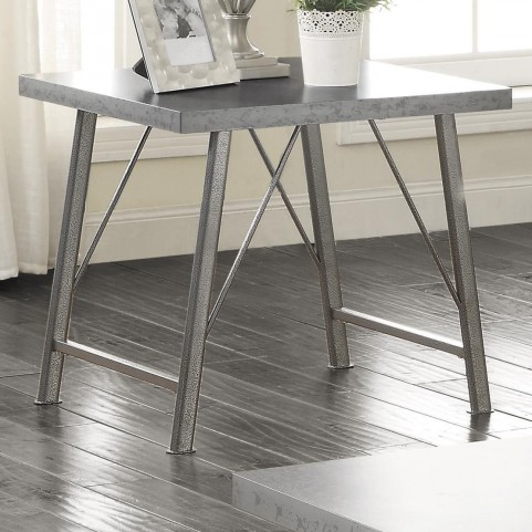 703757 Metal End Table