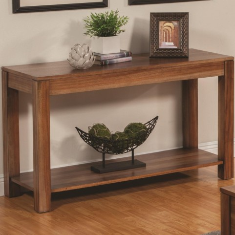 703919 Natural Brown Sofa Table