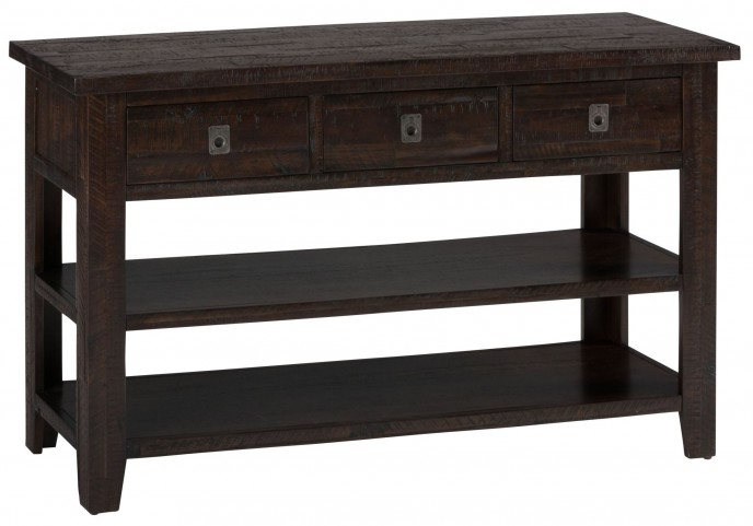 Kona Grove Rustic Chocolate Sofa/Media Table