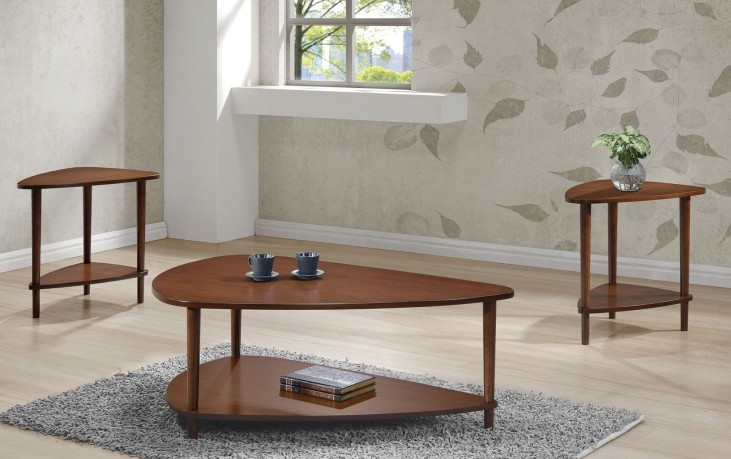 Walnut Guitar Pick Occasional Table Set