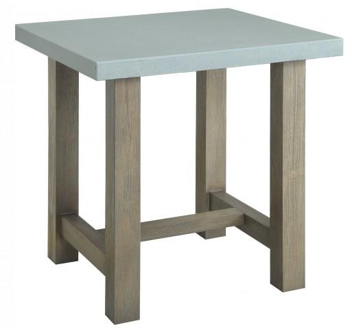 Concrete Top End Table