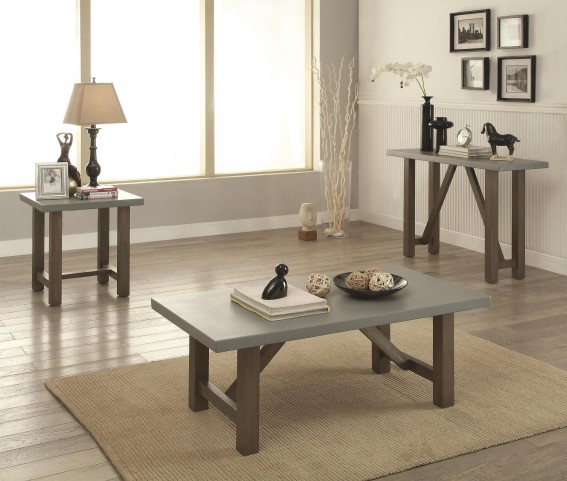 Concrete Top Occasional Table Set