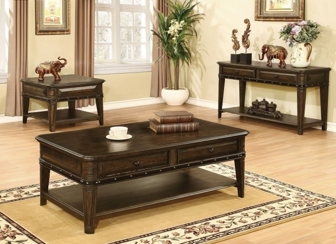 Dull Black Occasional Table Set