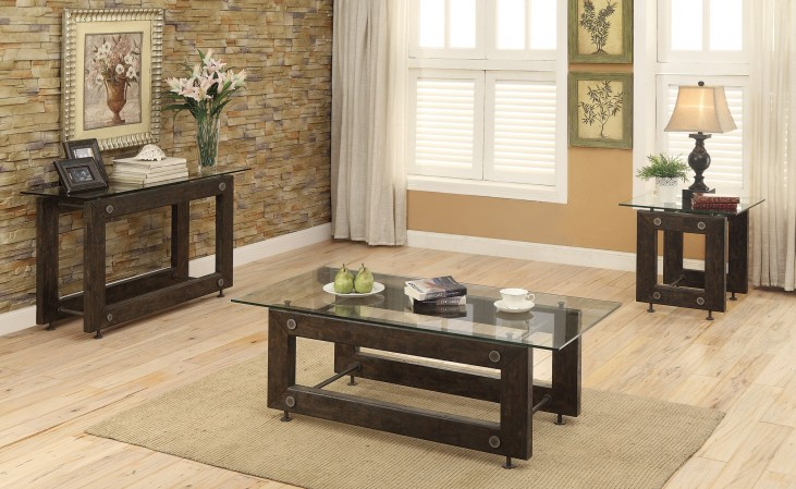 Tempered Glass Top Occasional Table Set