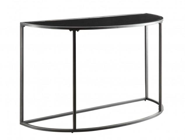 Black Glass Top Sofa Table