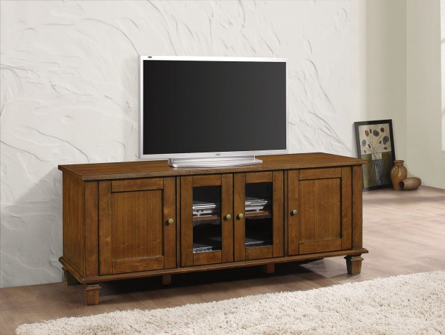Warm Brown Door TV Console