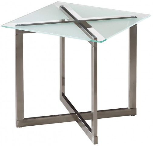 704437 Brushed Nickel End Table