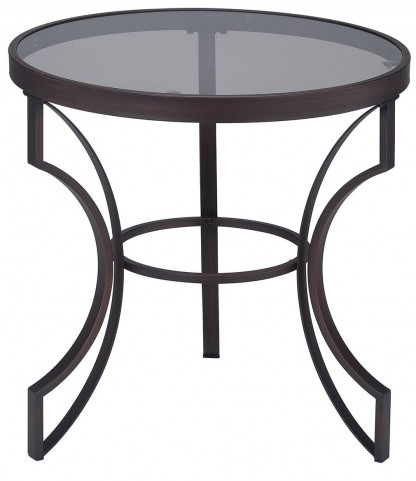 Bronze Metal Frame End Table