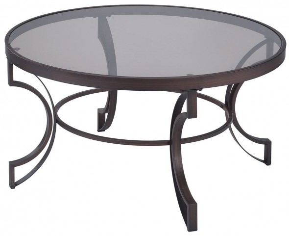Bronze Metal Frame Coffee Table