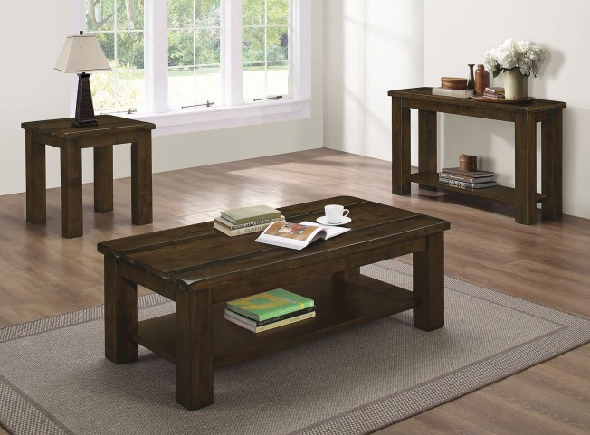 Wiltshire Rustic Pecan Occasional Table Set