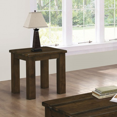 Wiltshire Rustic Pecan End Table