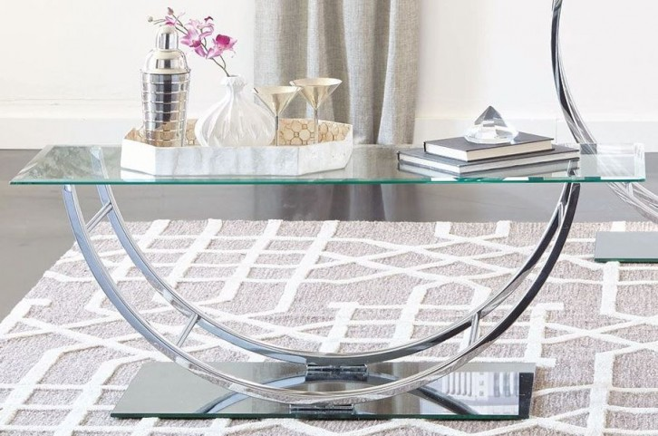 Chrome Glass Top Coffee Table