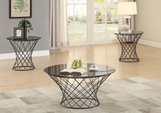 Black Occasional Table Set