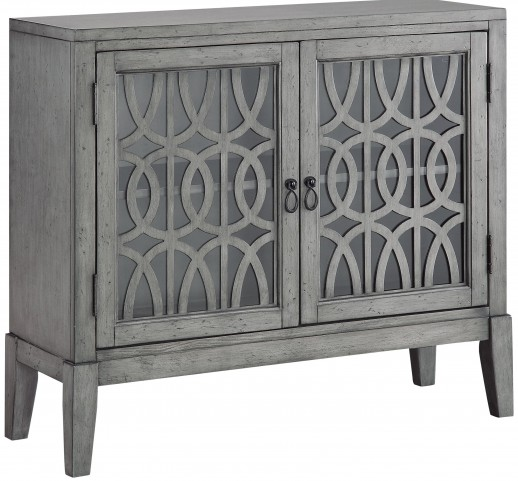 Distressed Soft Grey 2 Door Cabinet