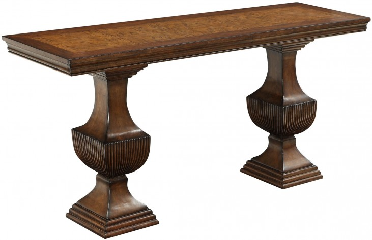 Mabelton Provincial Brown Console Table