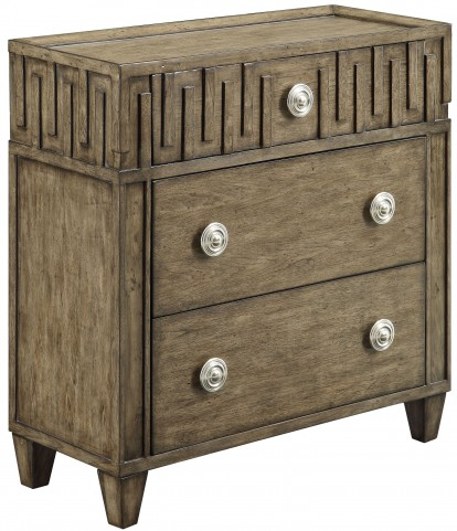 Kire Burnished Parchment 3 Drawer Chest
