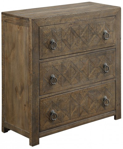 Vail Rustic Brown 3 Drawer Chest
