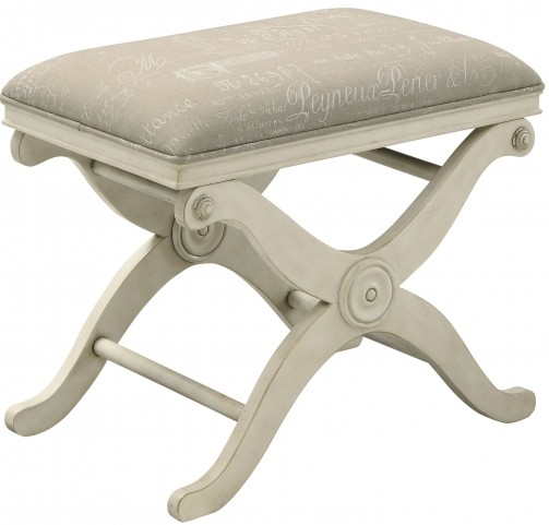 Burnished Ivory Accent Bench