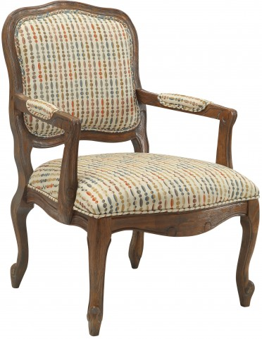 Ivory Multicolor Pattern Accent Chair