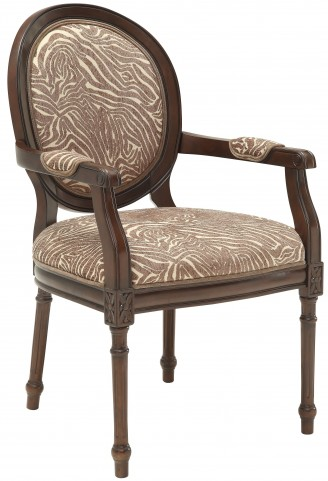 Beige/Brown Animal Print Accent Chair