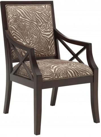Beige/Brown Animal Print Accent Chair
