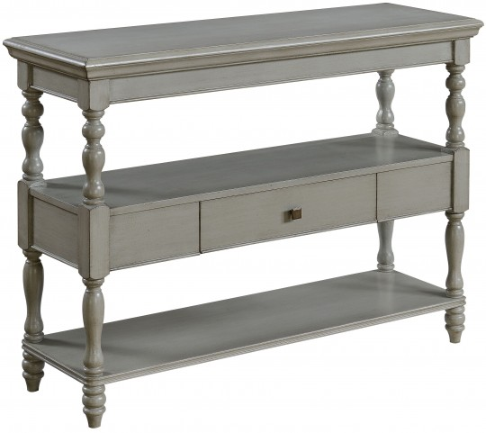Madrillon Burnished Grey One Drawer Console Table