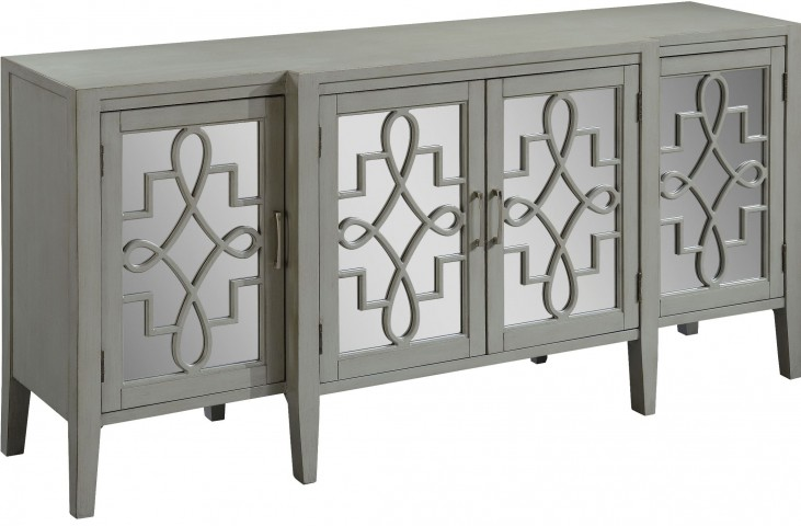 Manry Park Burnished Grey 4 Door Media Credenza