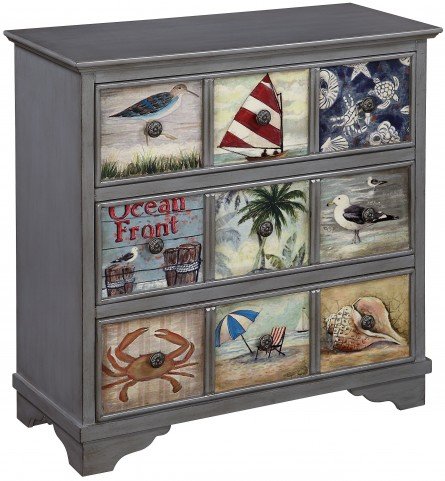 Cape May Burnished Grey 3 Drawer Chest