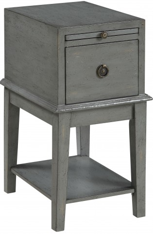 Joplin Texture Grey One Drawer Chairside Chest