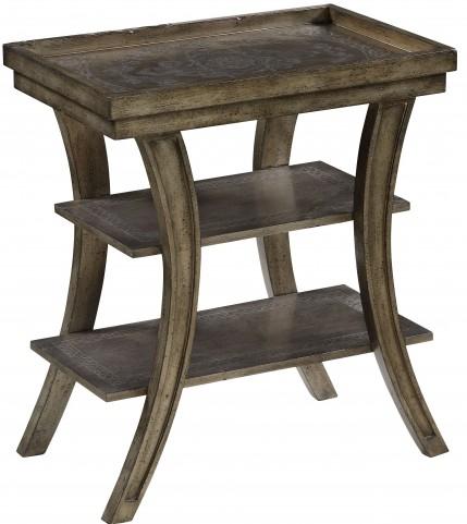 Meade Texture Parchment Accent Table