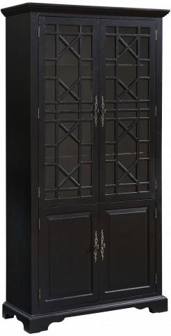 Edwardsville Texture Black 4 Door Cabinet