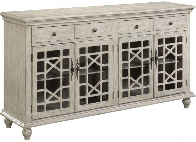 Millstone Texture Ivory 4 Door 4 Drawer Media Credenza