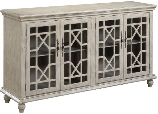 Millstone Texture Ivory 4 Door Media Credenza