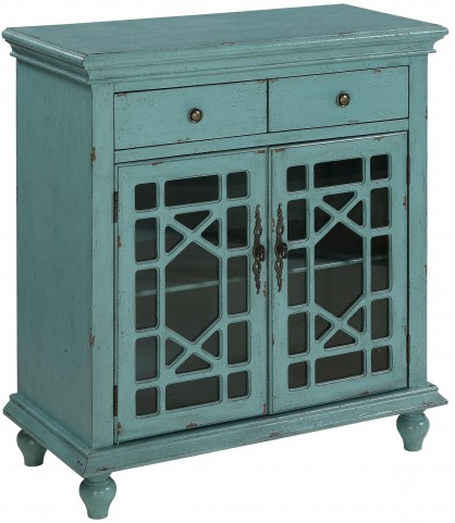 Bayberry Blue 2 Door 2 Drawer Cabinet