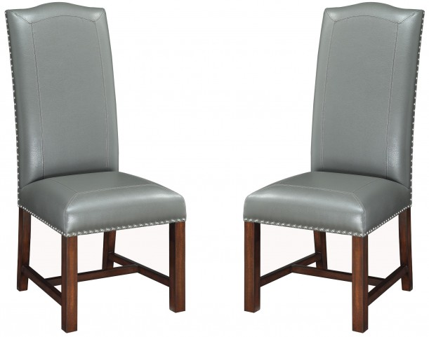 Rich Coyner Brown Cherry Accent Chair Set of 2